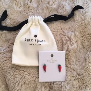 Kate Spade Chili Pepper earring Studs NWT